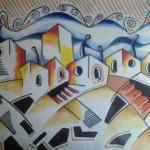 michelpinturas sobre lienzo y acrilico abstracto