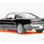 Daniel MorenoIlustracion de Ford Mustang, con pa