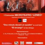 "I Concurso MICROTEATRO ""LENEO""Organizado por Art"