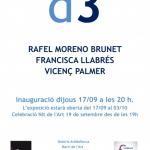 """""""d3"""" dels artistes Rafel Moreno Brunet, Francisc"""