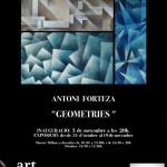 """Geometries"" de l'artista Antoni FortezaTenemo"