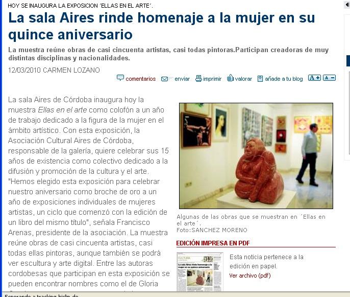 Diario de Cordoba cultura esposicion ELLAS EN EL A